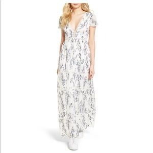 NWT Lucca Couture Lattice Insert Floral Maxi Dress